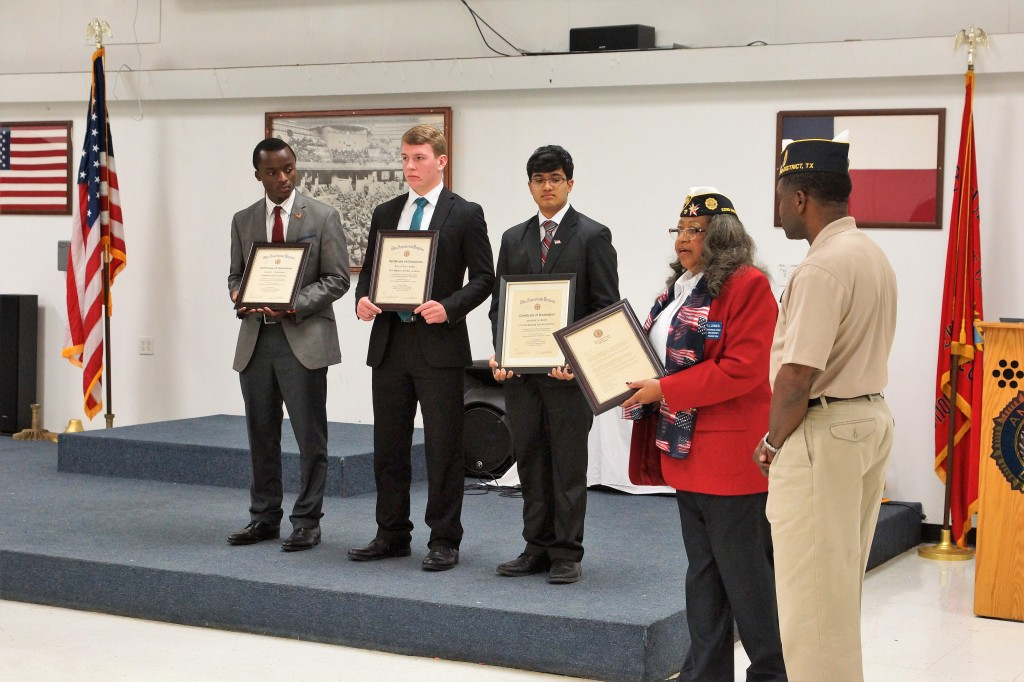 Left to right: Raoul Tchomba (3rd), Jonathan Kirk (2nd) and Adarsh Suresh (1st)