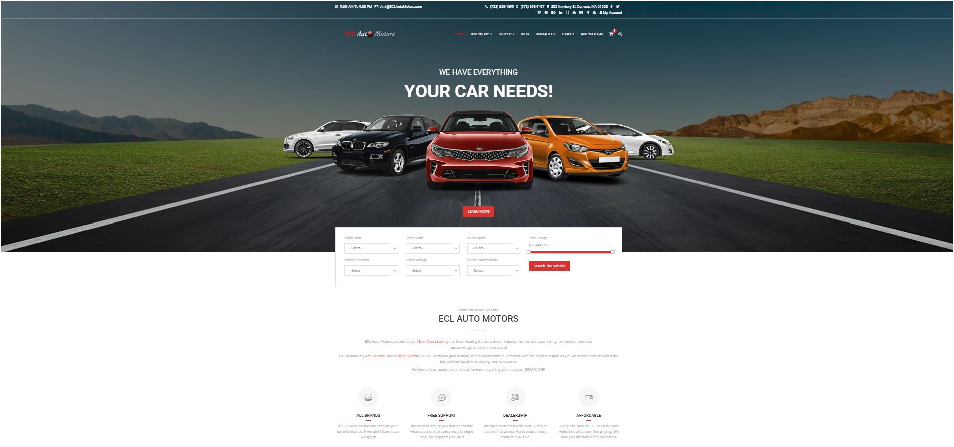 ECL Auto Motors Website