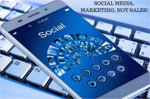 Social Media, Marketing not Sales